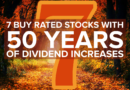7 Buy Rated Stocks With 50 Years of Dividend Increases